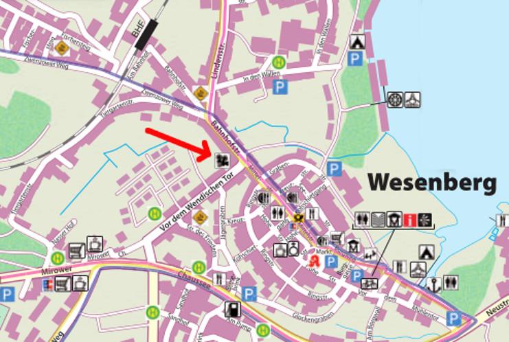 Stadtplan Wesenberg